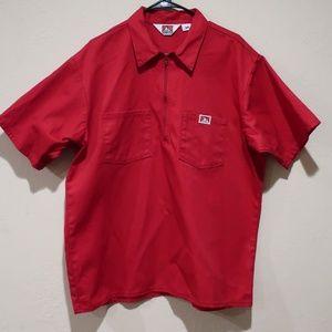 Classic Ben Davis Half Zip Work Shirt sz XL